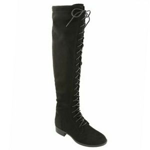 Black Knee High combat boot